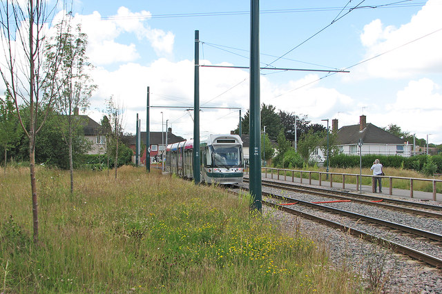 A tram approaching Clifton