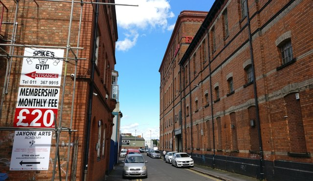 Sussex Street in Highfields, Leicester
