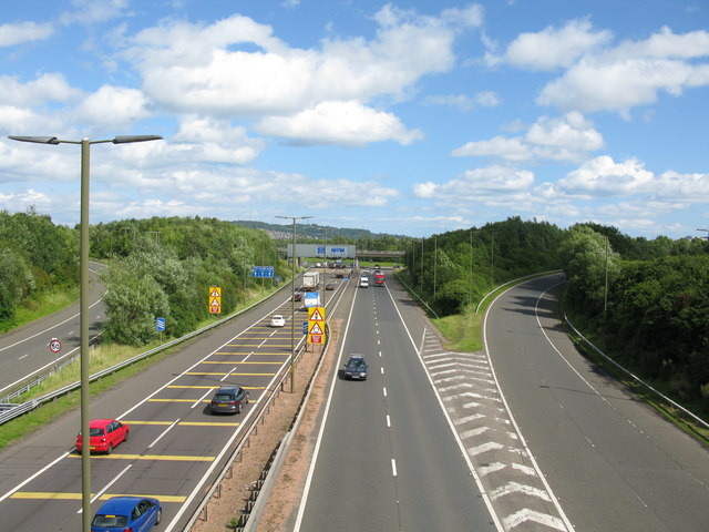Looking towards the end of the M8