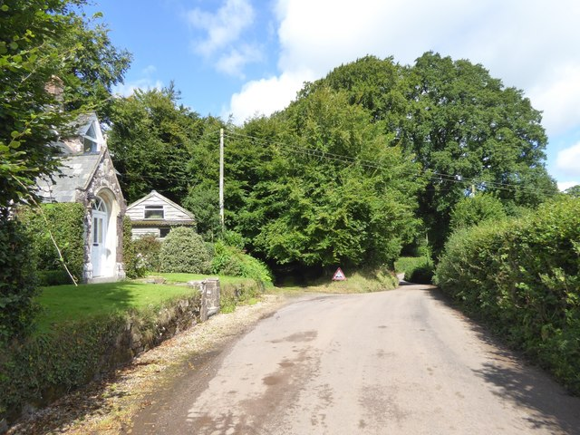 The road from Cruwys Morchard to the B3137