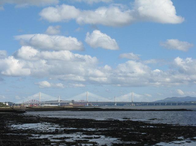 The Forth Bridges from Limekilns Promenade