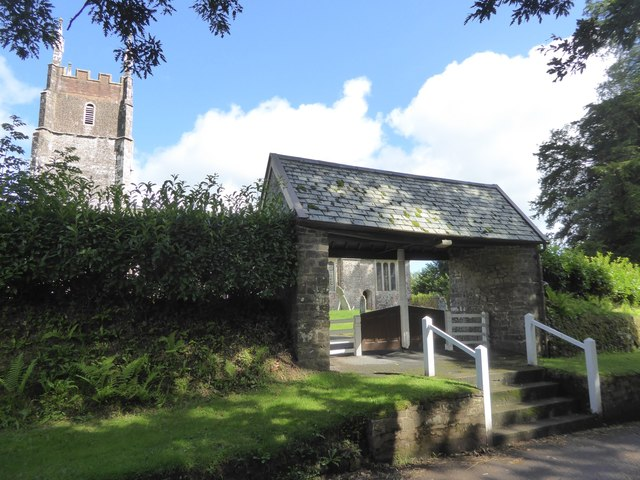 The lych gate of Cruwys Morchard church