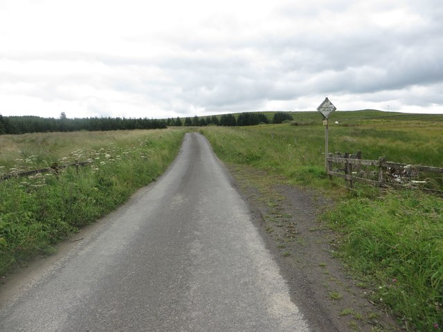 Country road east of Scotchcoultard