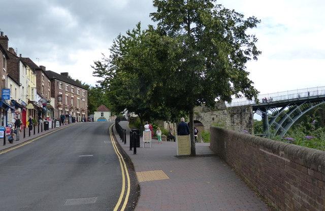 The High Street in Ironbridge