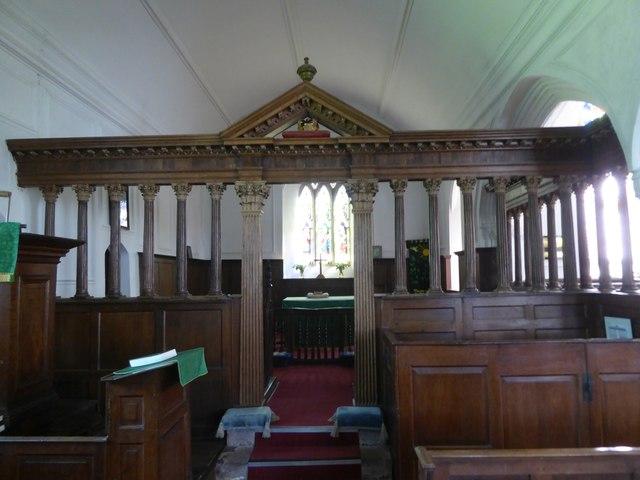The screen, Cruwys Morchard church