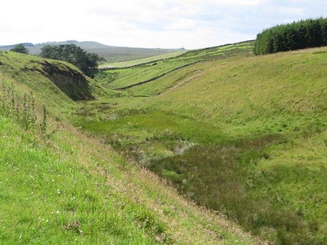 The Pont Gallon Burn north of Edge Green