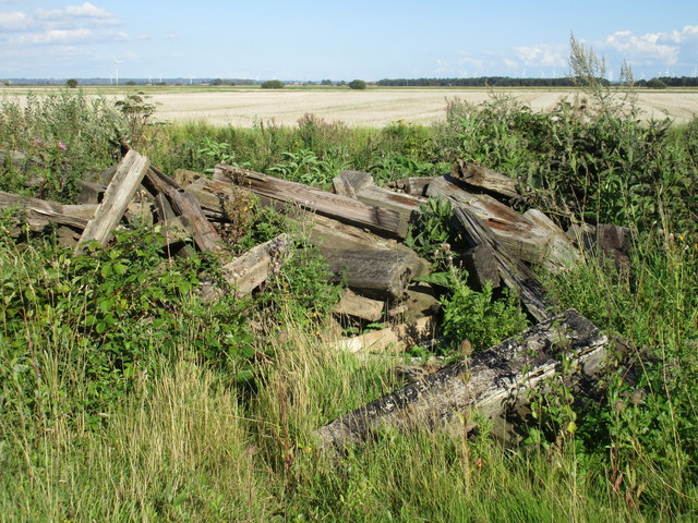 Pile of old sleepers