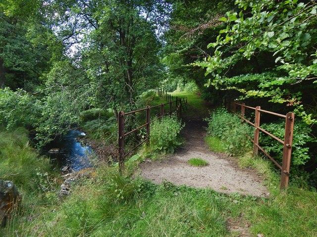 Footbridge over the Gallangad Burn