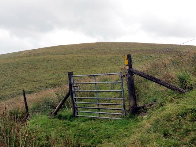 Gat ar lwybr ceffyl / Gate on bridleway