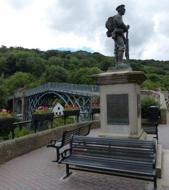 War memorial next to the Iron Bridge