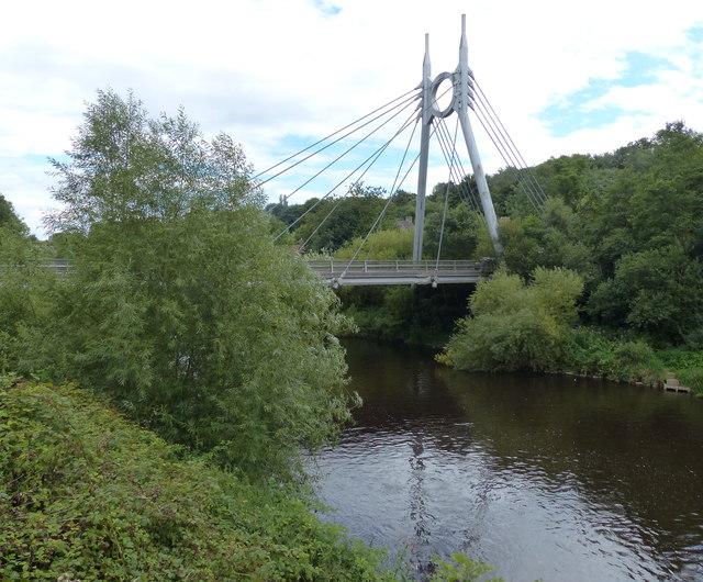 Jackfield Free Bridge crossing the River Severn