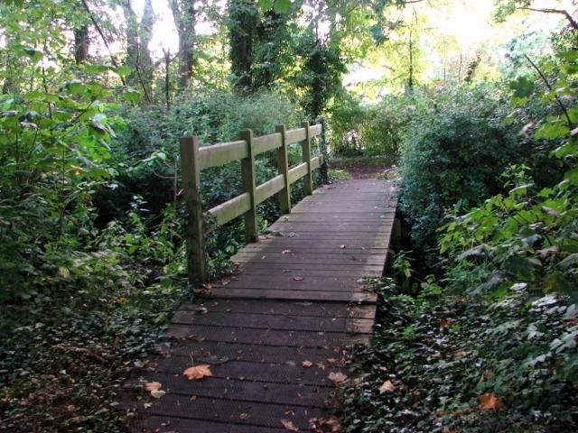 Bridge over a drainage ditch