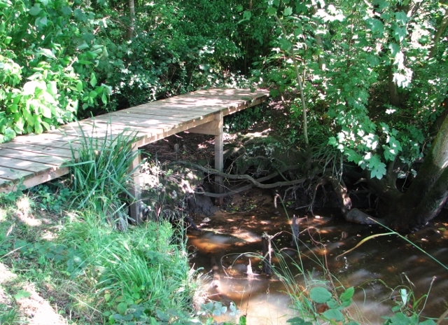 Wooden bridge beside the River Yare