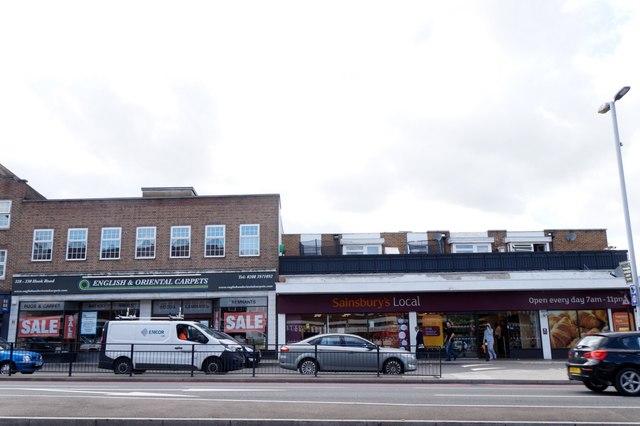 Shops on Hook Road