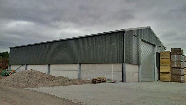 New farm building at Bog of Findon