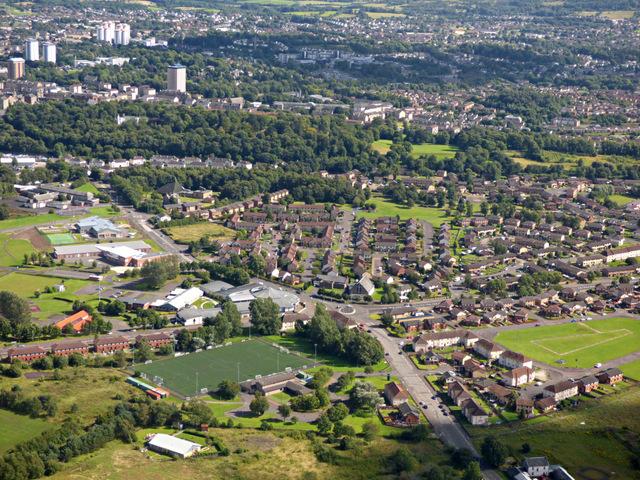 Ferguslie Park from the air