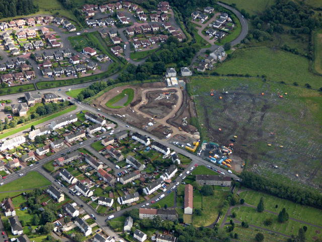 Elderslie from the air