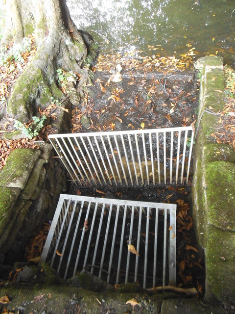 Small sluice gate in Golders Hill Park