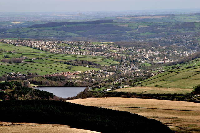 Holmfirth from Holme Moss