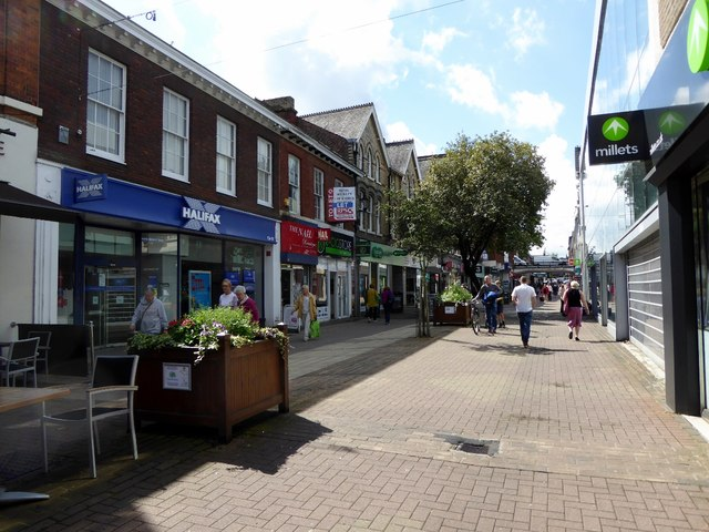 Shopping precinct in Altrincham