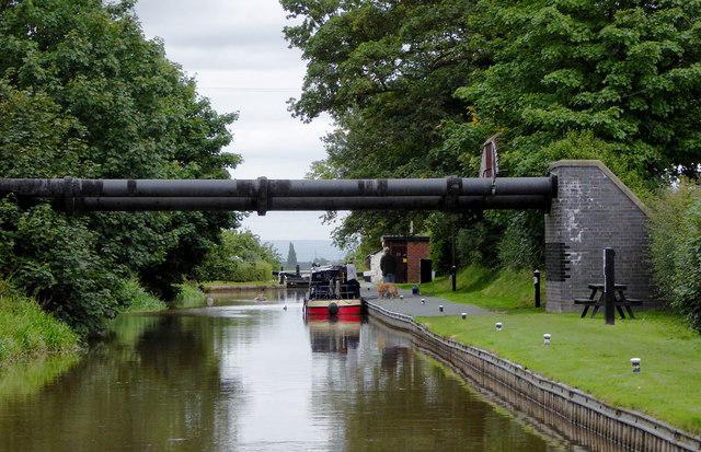Llangollen Canal approaching Hurleston Locks in Cheshire
