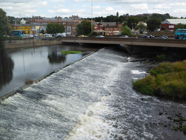 The weir on the River Calder, Wakefield