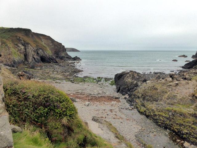 Coast near Aber Draw