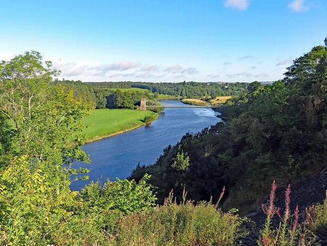 River Tweed from road near Chainbridge Honey Farm