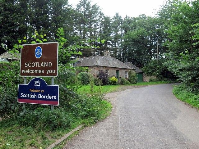 Scottish side of Union Bridge