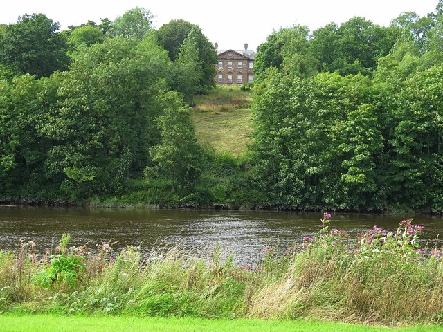 Paxton House from south bank of the Tweed