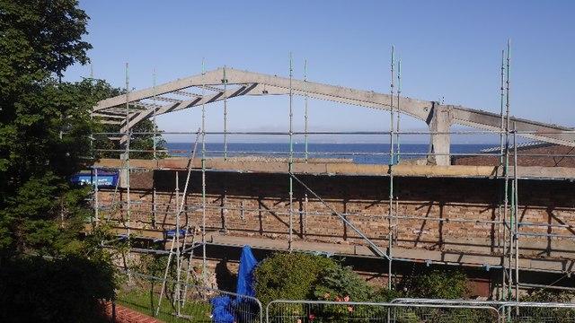 Cockenzie boat shed demolition