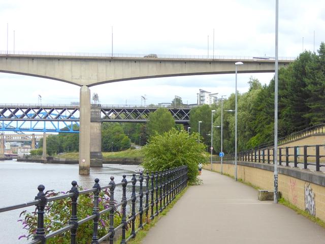 Keelman's Way and bridges of the Tyne
