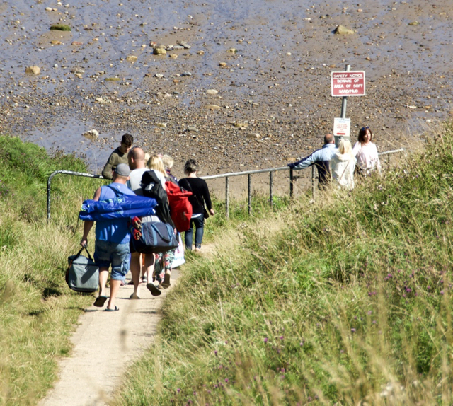 Off to the beach, Cayton Bay