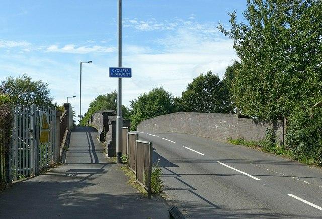 Baswich Lane bridge over the railway
