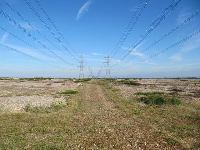Power Lines at Dungeness