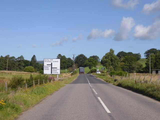 Staggered Crossroad near Milton of Logie