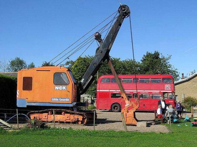 NCK Excavator & Route Master Bus, Chain Bridge Honey Farm