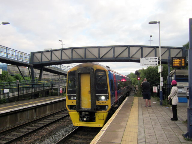 Cardiff to Portsmouth Train Arriving at Filton Abbeywood Station