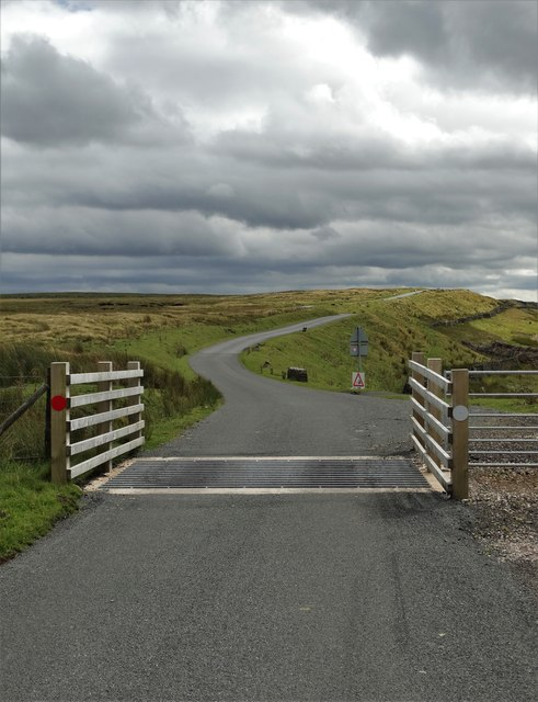 Cattle grid east of Black Scar, South Stainmore
