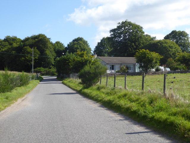 Departing Logie Coldstone on a minor road northwards