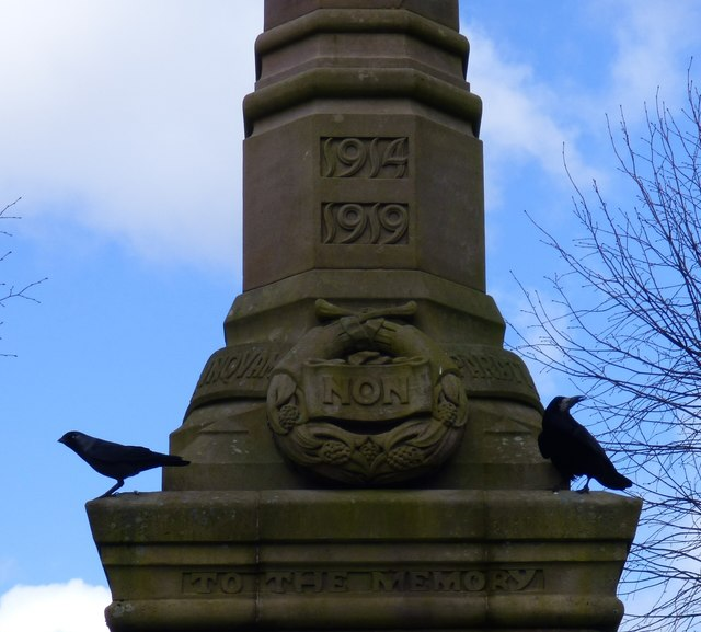Moffat War Memorial: architectural detail