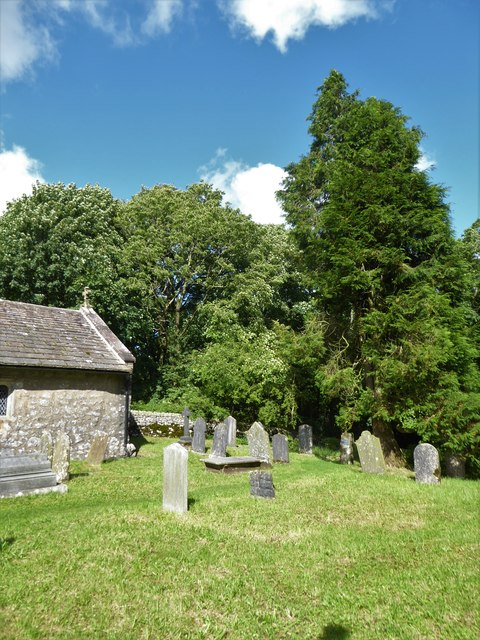 St. Leonard, Chapel-le-Dale: summer churchyard (a)