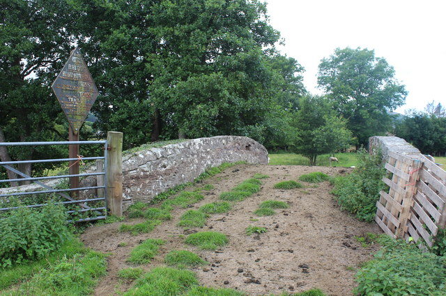 Track on Bridge 130, Monmouthshire & Brecon Canal