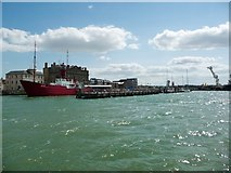 TM2532 : Harwich Town Pier, from the north by Christine Johnstone