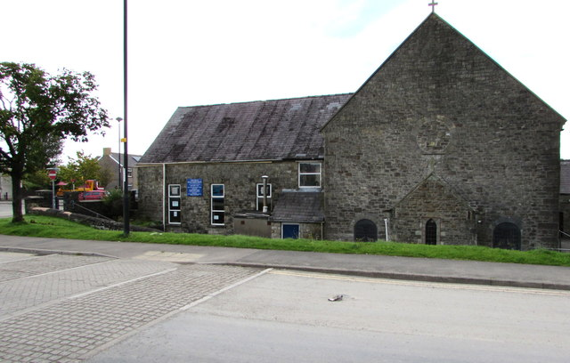 West side of St Mary's Roman Catholic Church, Brynmawr