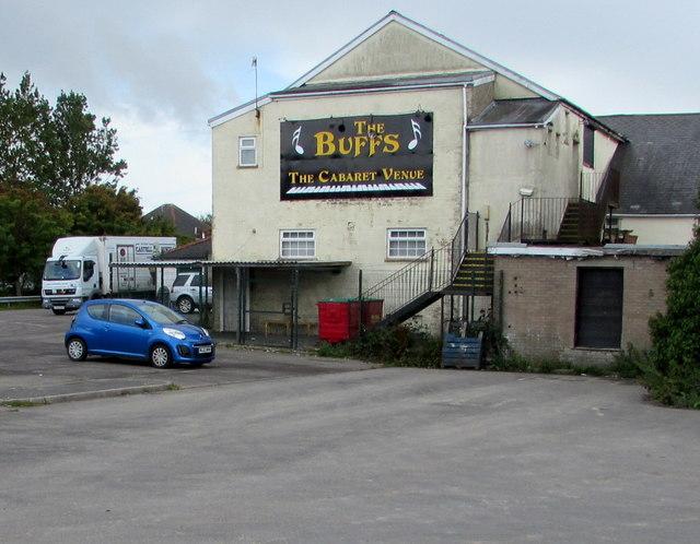 Buffs Cabaret Venue name sign, Brynmawr
