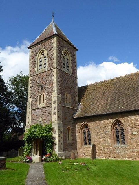 The tower of Bobbington church