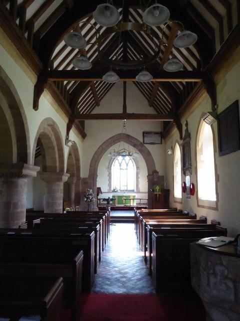Interior of Boddington church