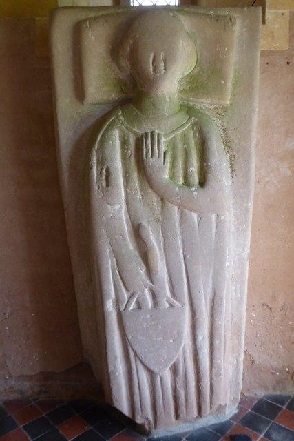 Stone effigy in Bobbington church