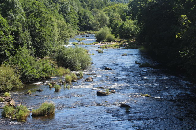 River Usk upstream from Llangynidr Bridge